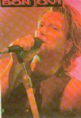 Bon Jovi - 'Jon Singing Purple' Sticker